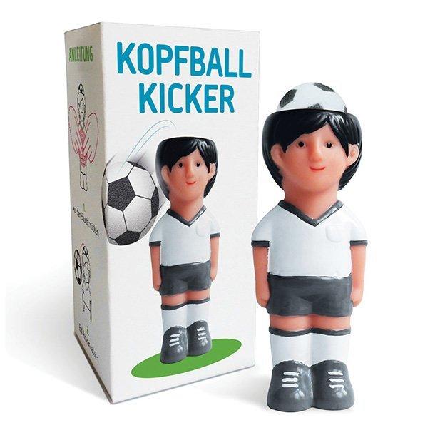 Kopfball Kicker mit drei Schaumstoffbällen
