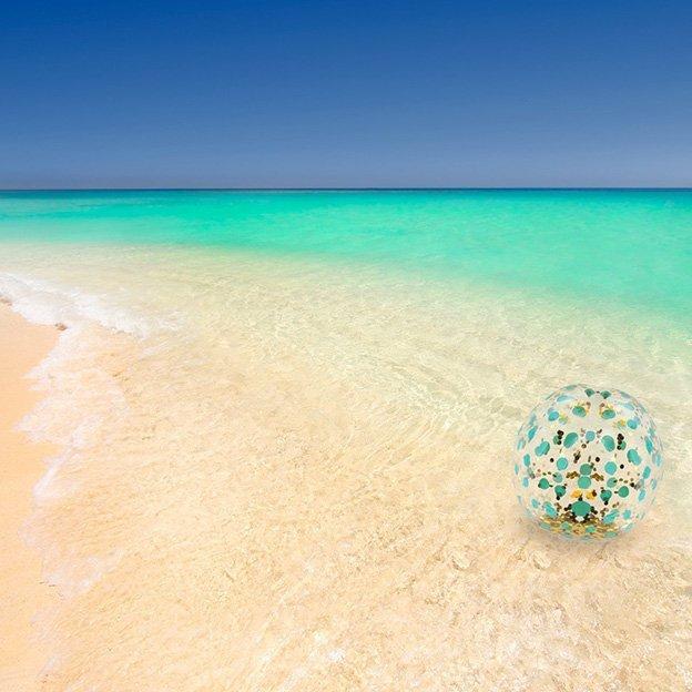 Riesen Glitzer Strandball 65 cm