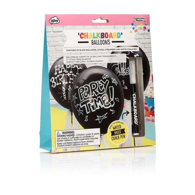 Party Ballone in Tafelfarbe zum selber beschriften - 20 Stk.