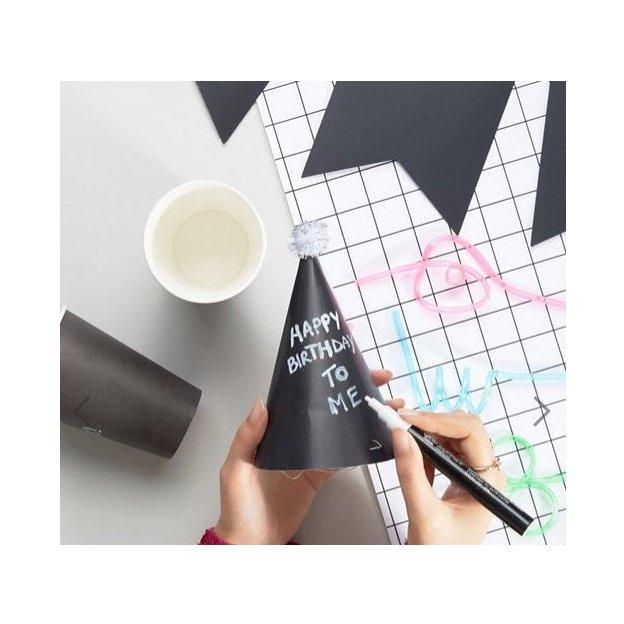 Party-Set in Tafelfarbe zum selber beschriften