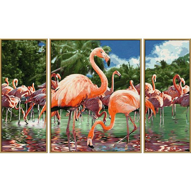 Malen nach Zahlen Flamingo