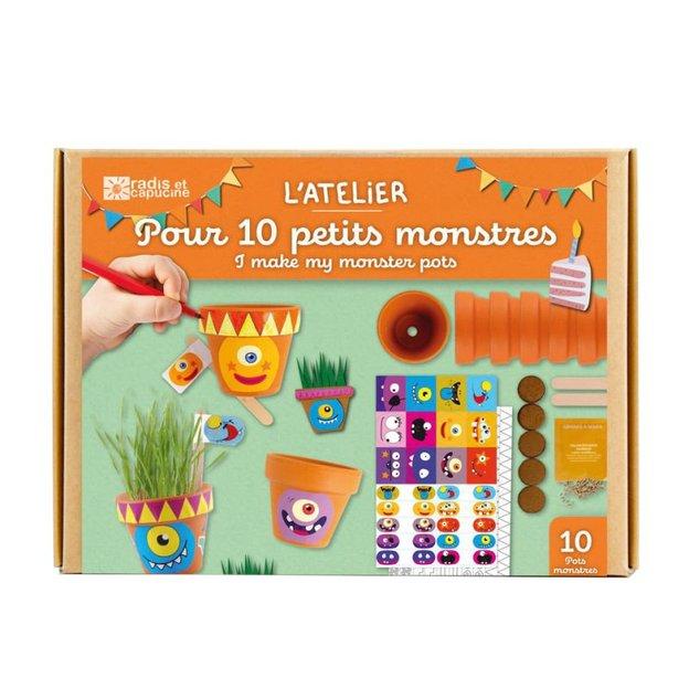 Pots Monstres à fabriquer - set de bricolage et de jardinage pour enfant