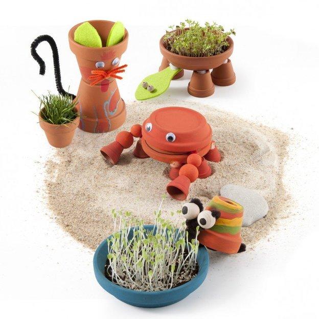 Animaux en pots de terre cuite à réaliser soi-même