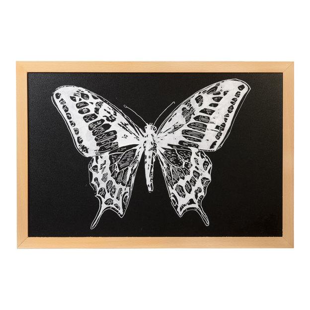 tableau noir avec cadre en bois 60 x 40. Black Bedroom Furniture Sets. Home Design Ideas