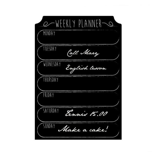 Wandtattoo Kreidetafel Weekly Planner