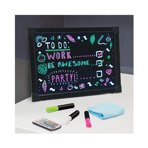 Neon Message-Frame beleuchtet