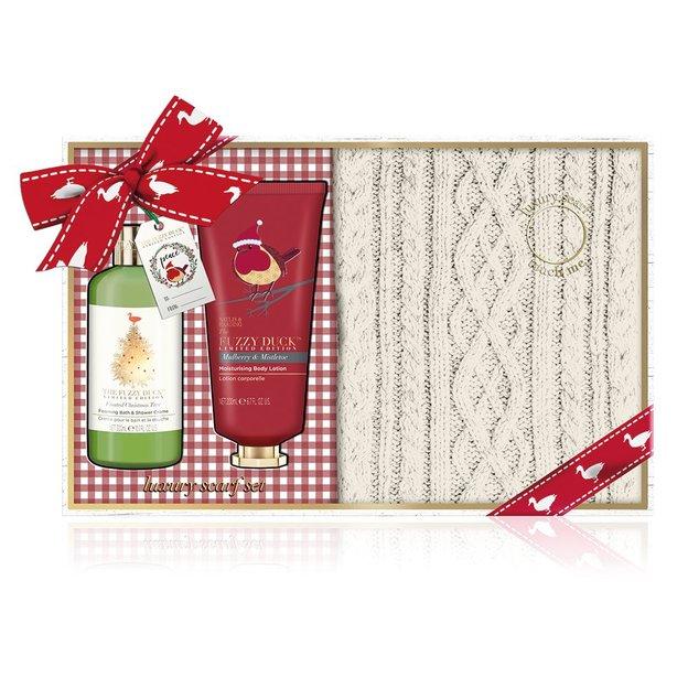 Coffret cadeau Baylis & Harding Winter Wonderland avec écharpe