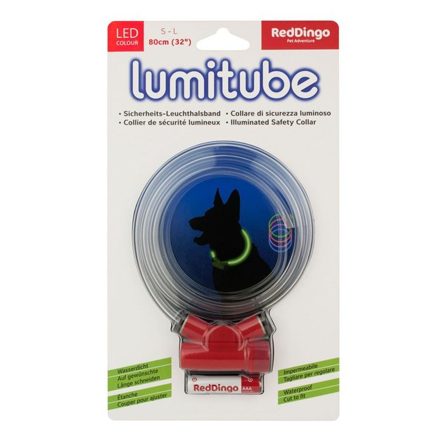LED Sicherheitshalsband Lumitube 80cm rot