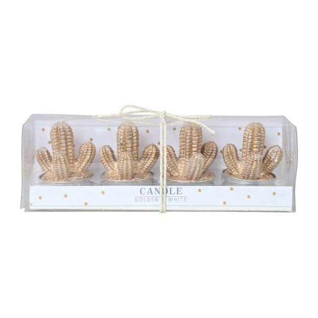 Teelichter Kaktus 4er Set