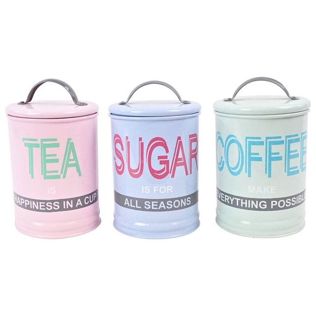 Vorratsdosen Tea Sugar Coffee 3er Set