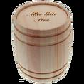 Truffes chocolat / vin rouge dans un tonnelet personnalisé