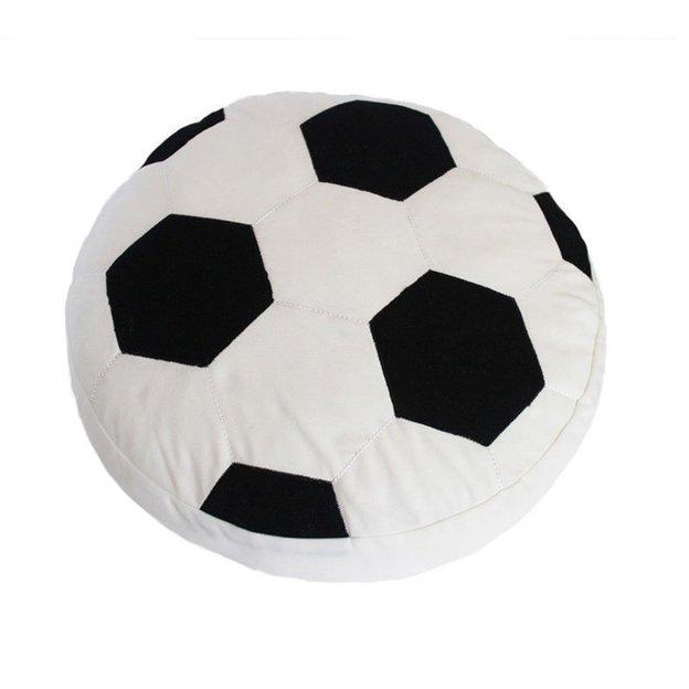 Kissen Football schwarz/weiss