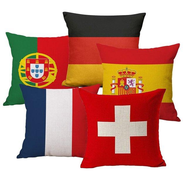 Kissenüberzug Länder-Flagge