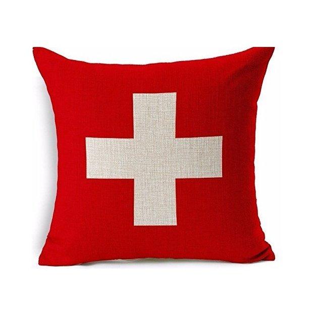 Kissenüberzug Länder-Flagge Schweiz
