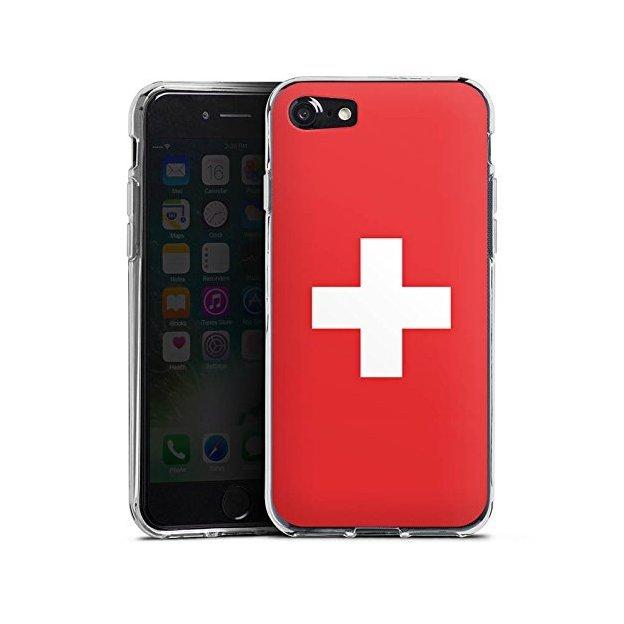 Coque iPhone 7 & 8 Drapeau suisse