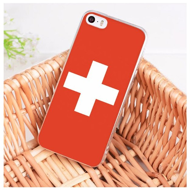 iPhone 7 & 8 Schutzülle Schweizer Flagge