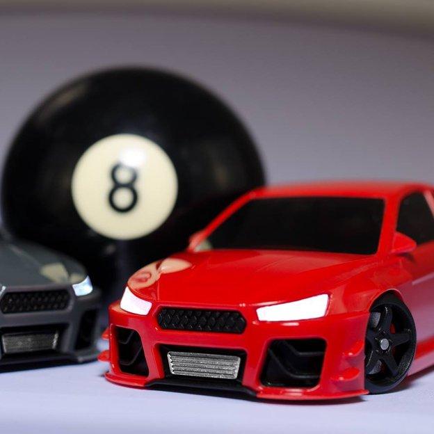 Drift Racer rot - Fahrdynamik eines realen Rennautos