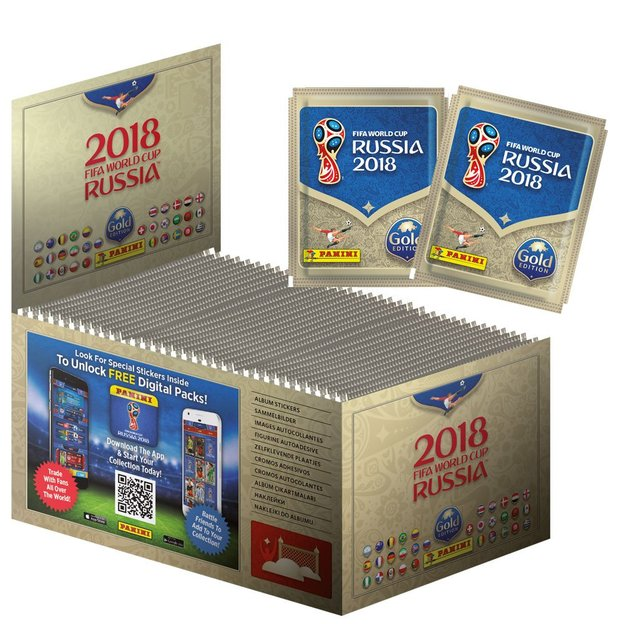 Vignettes Panini FIFA World Cup 2018™ - Edition Gold, pack de 100