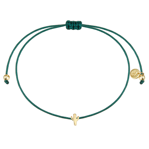 Armband Textil grün Kaktus