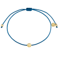 Armband Textil blau Muschel