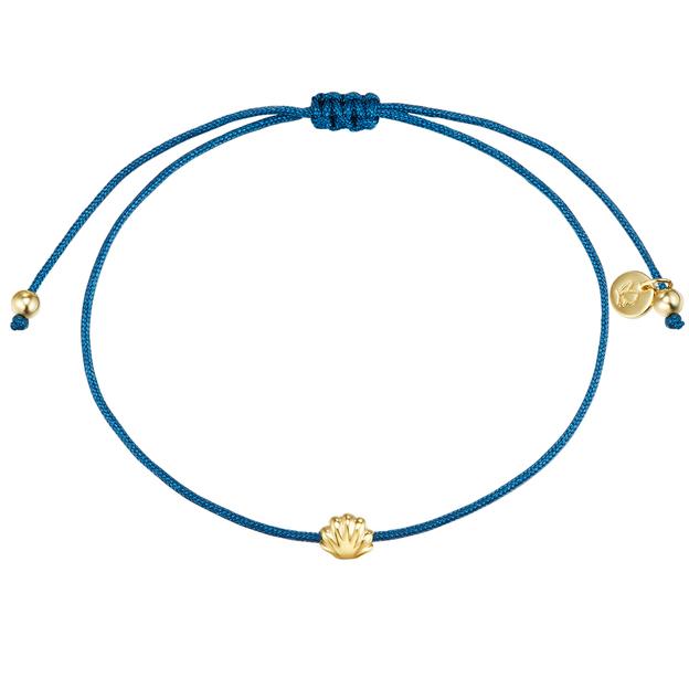 Armband Flora blau Muschel