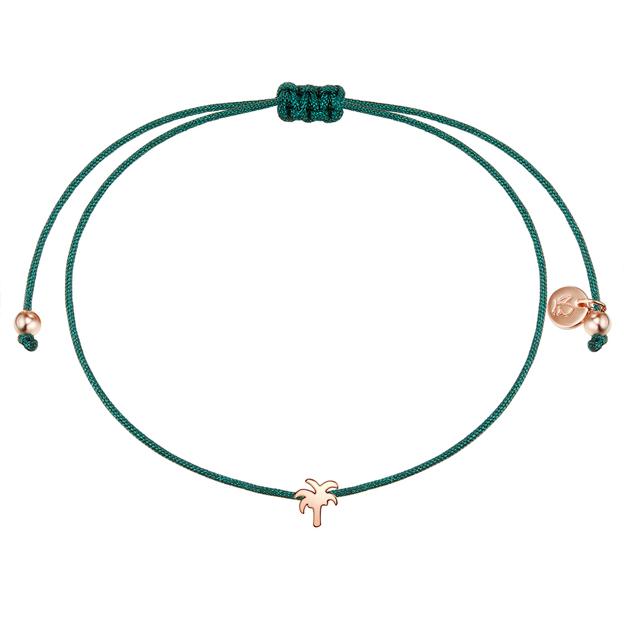 Armband Textil grün Palme