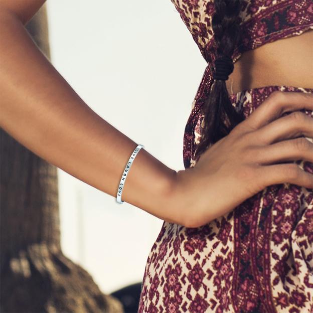 Bracelet en acier inoxydable LIVE LAUGH LOVE