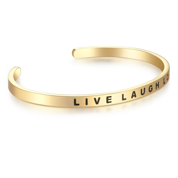 Bangle Edelstahl LIVE LAUGH LOVE