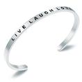Bracelet en acier inoxydable LIVE LAUGH LOVE - argent