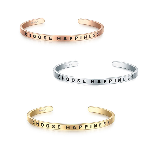Bangle Edelstahl CHOOSE HAPPINESS