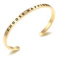 Bracelet en acier inoxydable CHOOSE HAPPINESS - or