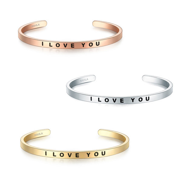 Bracelet en acier inoxydable I LOVE YOU