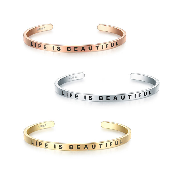 Bracelet en acier inoxydable LIFE IS BEAUTIFUL