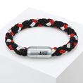 Bracelet homme Skipper & Son - rouge - 21 cm