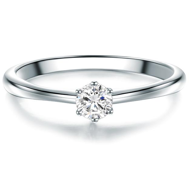 Verlobungsring Partnerring Sterling Silber Zirkonia