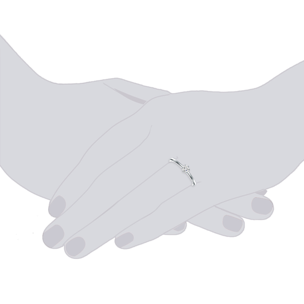 Verlobungsring Sterling Silber Zirkonia