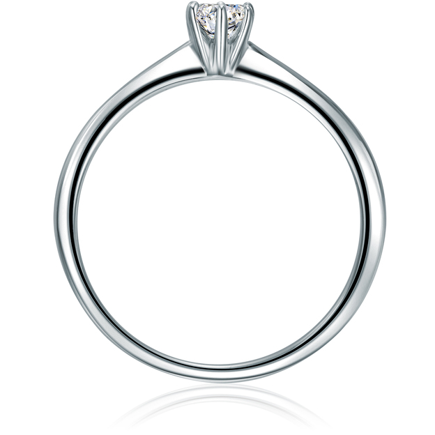 Verlobungsring Sterling Silber Zirkonia 52