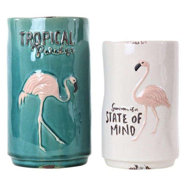 Vasen Flamingo 2-teilig