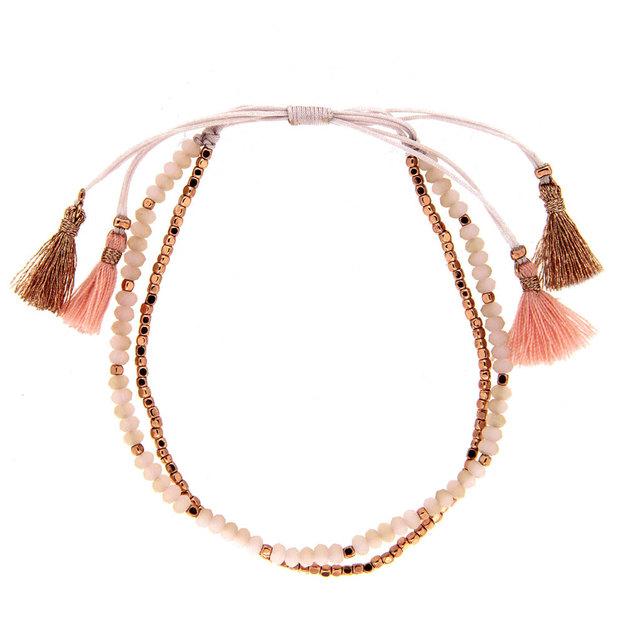 Sweet Deluxe Bracelet avec perles roses
