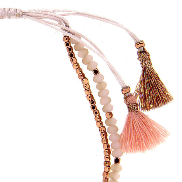 Sweet Deluxe Armband mit Perlen rosa