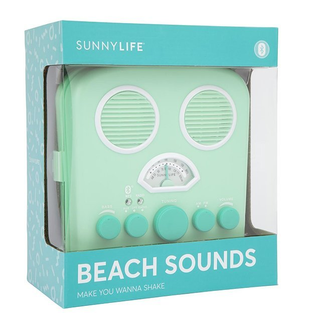 Haut-parleur Bluetooth Beach Sounds Sunnylife - menthe