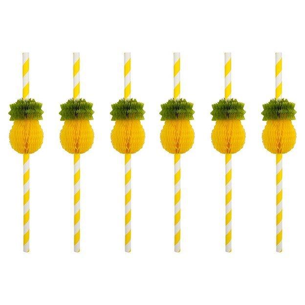 Sunnylife Honeycomb Ananas Trinkhalme