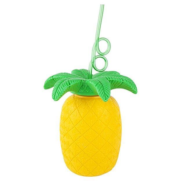 Sunnylife Gobelet Ananas avec paille