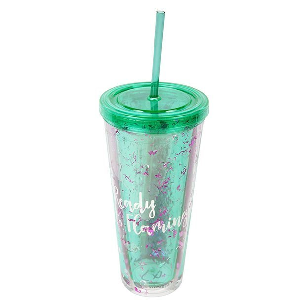 Sunnylife Glitzer-Trinkflasche Flamingo