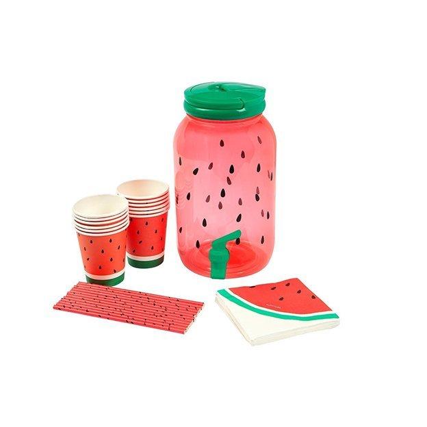 Sunnylife Set Pastèque avec distributeur de boisson et gobelets