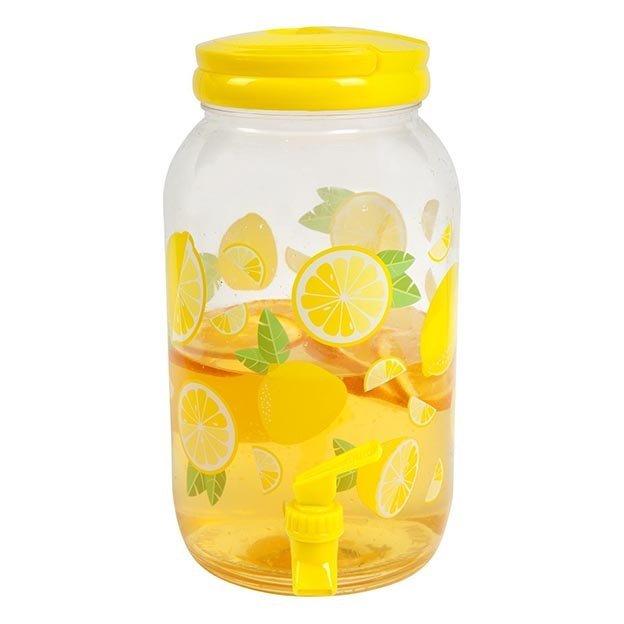 Sunnylife Set Citron avec distributeur de boisson et gobelets