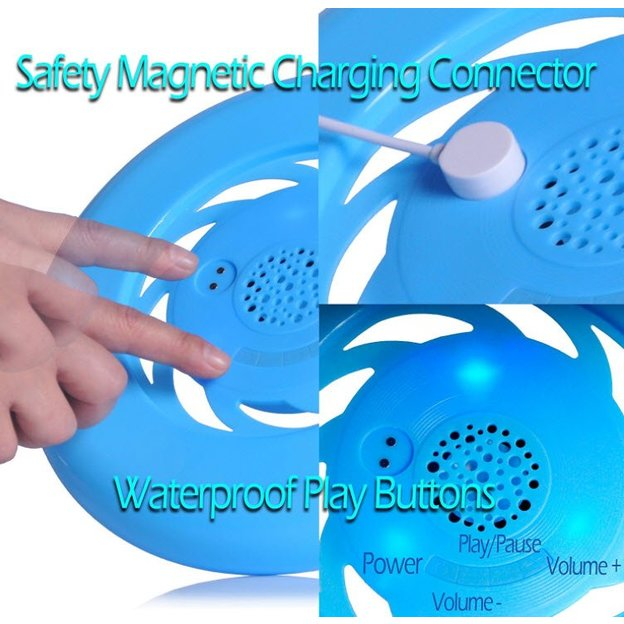 Frisbee Bluetooth Lautsprecher azurblau