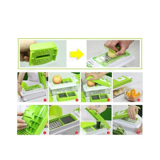 Genius Nicer Dicer Plus, 12in1 Küchenhelfer