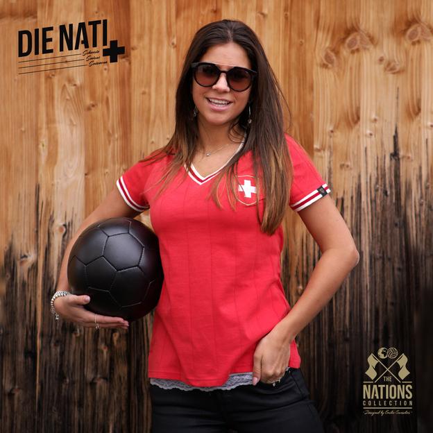 Vintage Fussball Trikot Damen Schweiz S