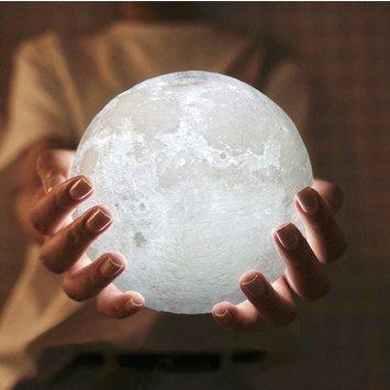 Idee Cadeau Jeune Garcon.Lampe Lune 3d Led O 15 Cm
